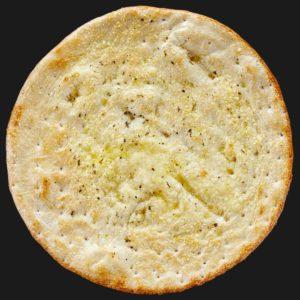 Доставка пиццы Хлебная лепёшка фокачча с чесноком и сыром пармезан в Омске – Пиццерия «Перцы»