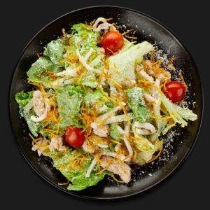 Салат с кальмарами и филе птицы – Пиццерия «Перцы»
